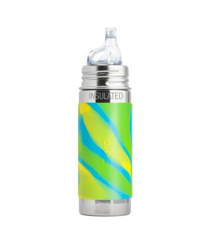 Pura® TERMO fľaša s náustkom 260ml zeleno modrá