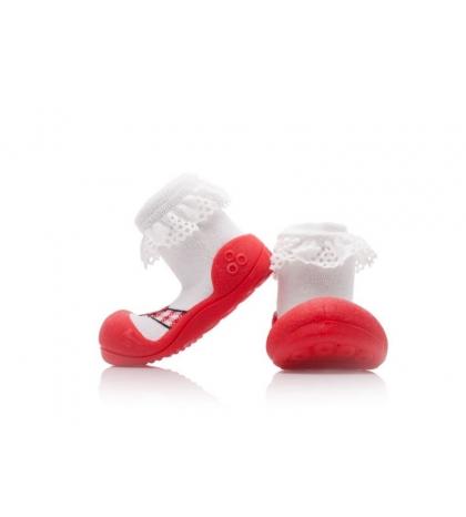 Attipas Detské topánočky veľkosť  XL Ballet Red