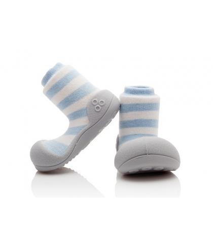Attipas Detské topánočky veľkosť L Natural Herb Blue