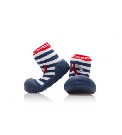 Attipas Detské topánočky veľkosť  S Marine Anchor Red