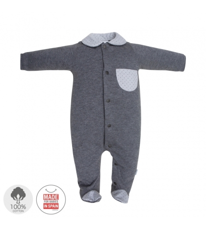 Dojčenský overal veľkosť 56 sivý 411 Cambras