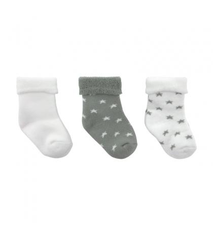 3 set detské ponožky 17/18 STAR sivé CAMBRASS