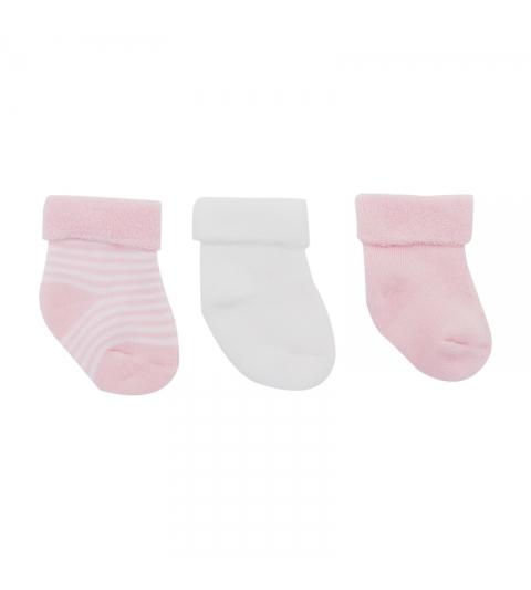 3 set detské ponožky 15/16 ružové CAMBRASS