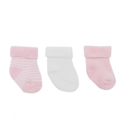 3 set detské ponožky 17/18 ružové CAMBRASS