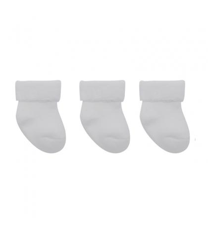 3 set detské ponožky 15/16 biele CAMBRASS