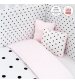 CAMBRASS be  4 SET  do postieľky DOTS PINK