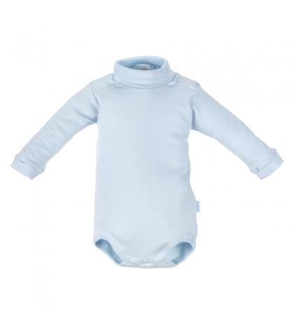 CAMBRASS Detské body v 62 s rolákom dlhý rukáv modré