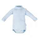CAMBRASS Detské body v 74 s rolákom dlhý rukáv modré