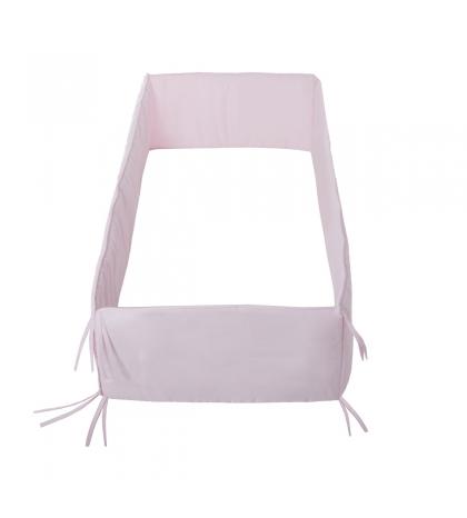 CAMBRASS mantinel do postieľky 420x30 cm liso ružový