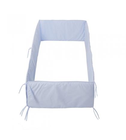 CAMBRASS mantinel do postieľky 420x30 cm liso modrý