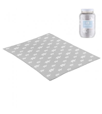 CAMBRASS Bavlnená detská deka 80 x 100 cm ELE sivá