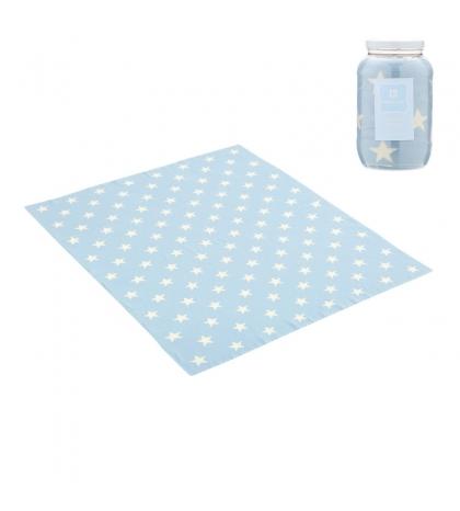 CAMBRASS Bavlnená detská deka 80 x 100 cm ETOILE modrá