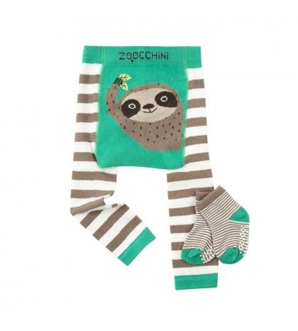 Zoocchini Set legínky a ponožky LEŇOCHOD 12-18