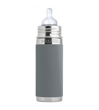 Pura® TERMO dojčenská fľaša 260ml sivá