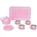 Jabadabado Čajový set v kufríku ružový