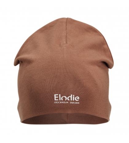 Elodie Details Bavlnená detská čiapka LOGO -Burned Clay 0-6