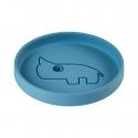 Done by Deer silikónový tanier guľatý Nozo modrý
