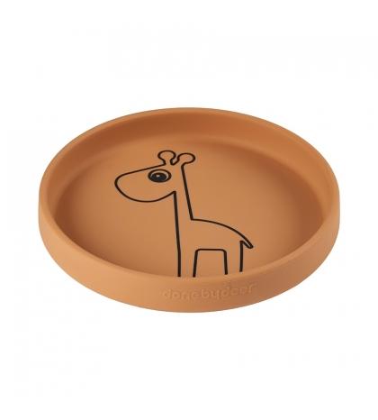 Done by Deer silikónový tanier guľatý Raffi horčicový