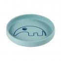 Done by Deer silikónový tanier guľatý Antee modrý