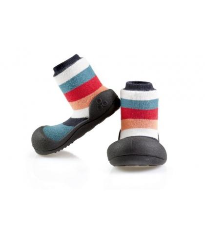 Attipas Detské topánočky veľkosť M Rainbow Black