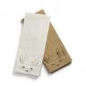 Elodie Details bavlnené obrúsky 2ks EAT Lily White /Warm sand