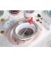 tanier s protišmykovým systémom contour ružový