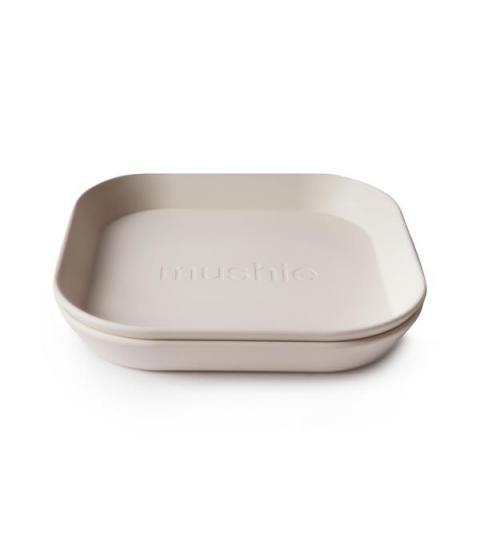 Mushie hranatý tanier 2 ks cloud