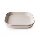 Mushie hranatý tanier 2 ks ivory