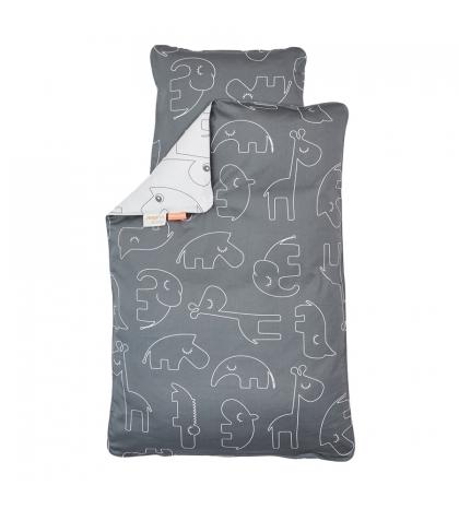 Done by Deer posteľné obliečky Baby tmavo sivé