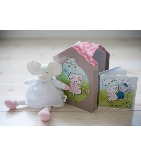 Darčekový set DELUXE knižka + hračka myška Meiya