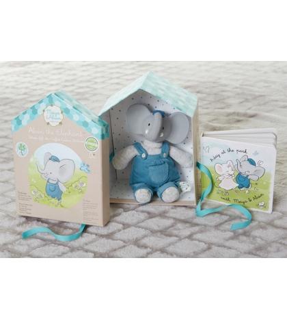Darčekový set DELUXE knižka + hračka sloník Alvin