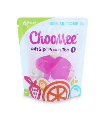 ChooMee Sip'n náustok na výživu v kapsičke fialová-1ks