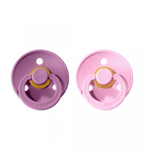 BIBS Colour veľkosť 1 cumlíky z prírodného kaučuku 2ks –lavender baby pink