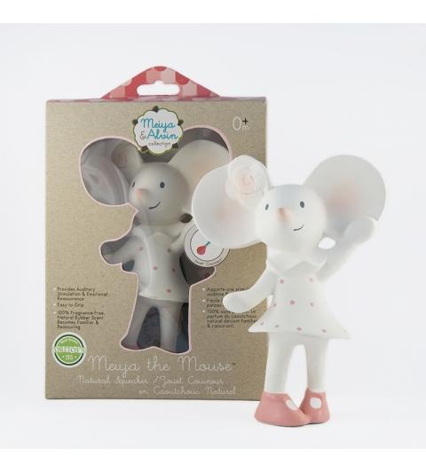 Pískatko / hryzátko myška Meiya (100% prírodný kaučuk)