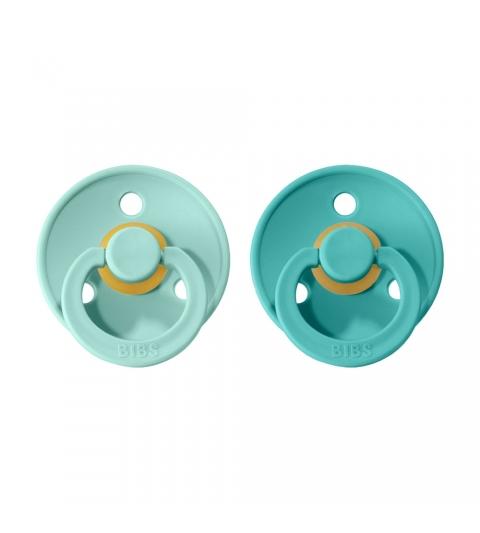 BIBS Colour veľkosť 1 cumlíky z prírodného kaučuku 2ks – mint turquoise