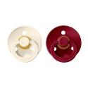 BIBS Colour veľkosť 1 cumlíky z prírodného kaučuku 2ks – ivory ruby