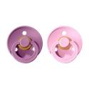 BIBS Colour veľkosť 2 cumlíky z prírodného kaučuku 2ks –lavender baby pink