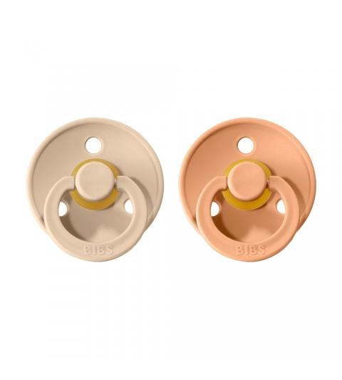 BIBS Colour veľkosť 2 cumlíky z prírodného kaučuku 2ks – vanilla peach