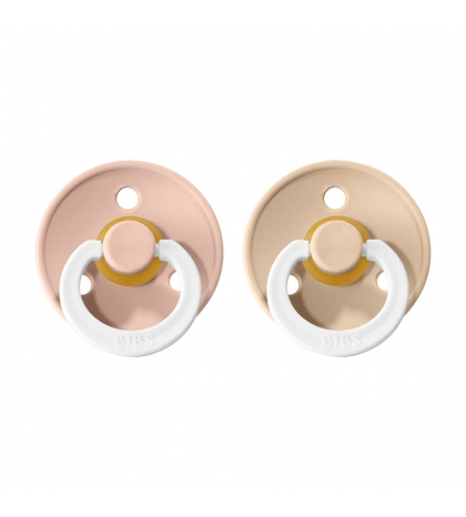 BIBS Colour veľkosť 3 cumlíky z prírodného kaučuku 2ks – blush nočný vanilla nočný