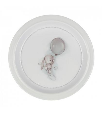 Effiki Plytký tanier - balón Šedý