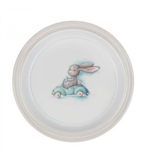 Effiki Plytký tanier - pretekár Modrý