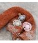 BIBS De Lux veľkosť 2 cumlíky z prírodného kaučuku 2ks-ivory blush