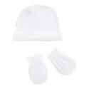Kojenecká čiapočka a rukavičky veľkosť 52 biely set Cambrass