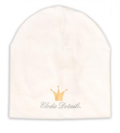 Elodie Details Bavlnená čiapka LOGO - Vanilla White