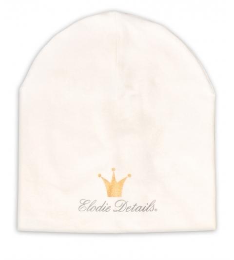 Čiapka Logo Beanie- Vanilla White  Elodie Details