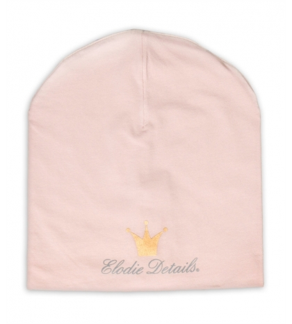 Čiapka Logo Beanie - Powder Pink Elodie Details