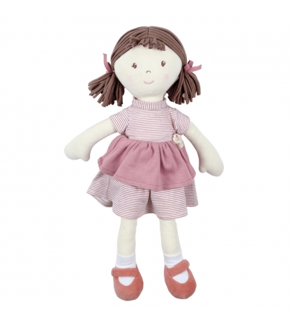 Bonikka Organic látková bábika Kaia modré šaty