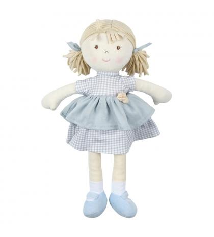 Bonikka All Natural látková bábika Neva modré šaty