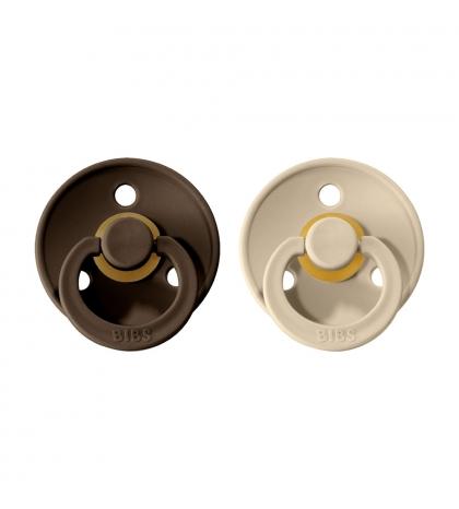 BIBS Colour veľkosť 2 cumlíky z prírodného kaučuku 2ks – chocolate sand
