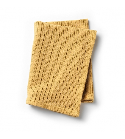 Elodie Details Pletená celulárna deka gold